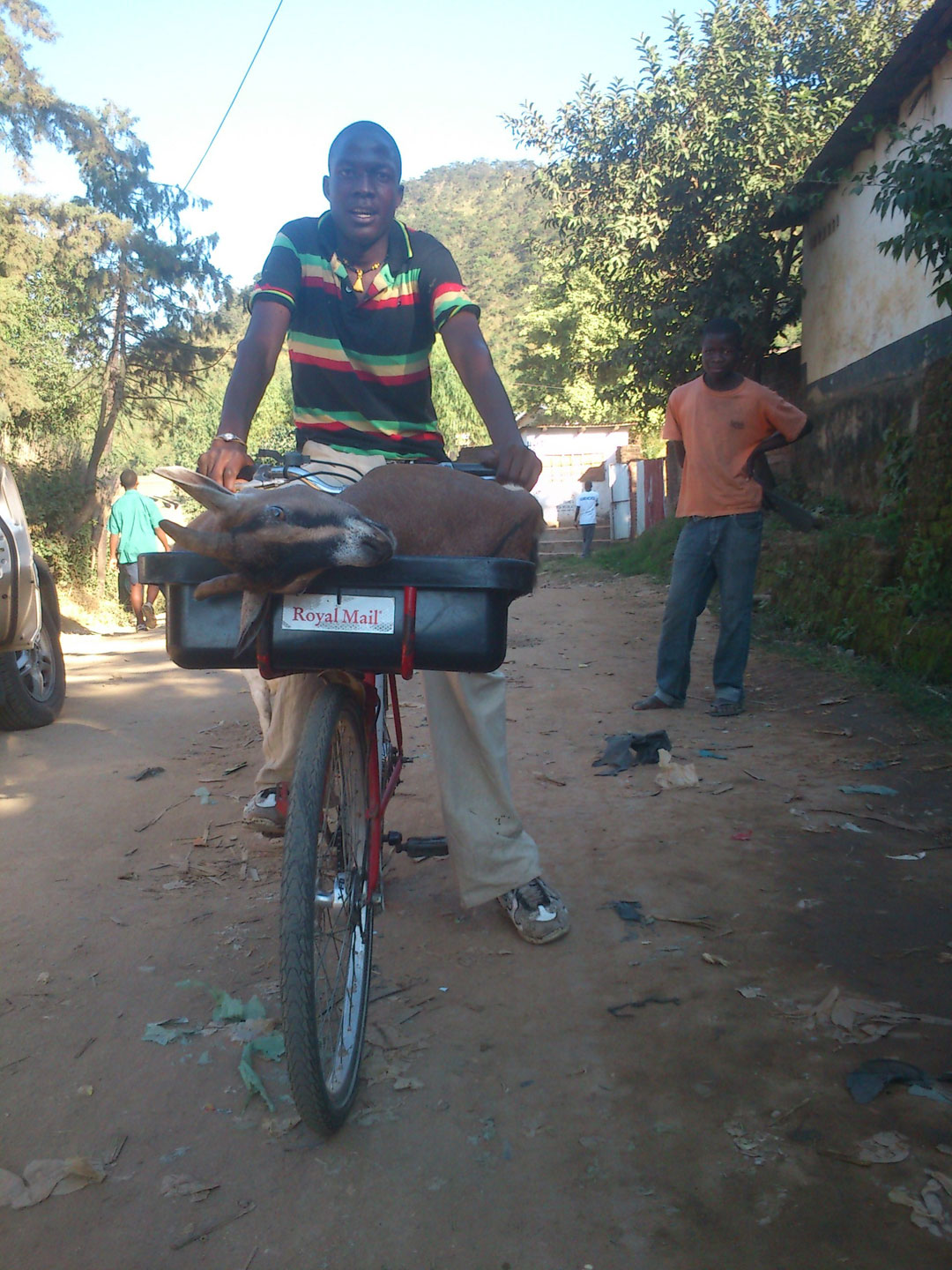 Using refurbished Royal Mail bikes for unique purposes in Malawi.