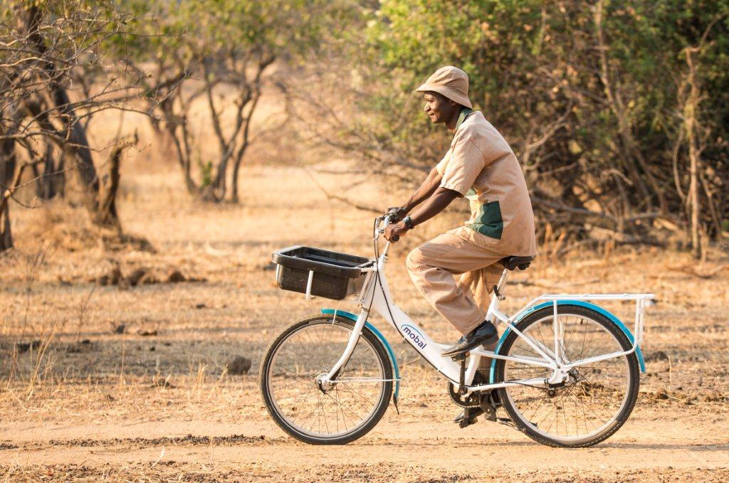 A Warden on Patrol with a Mobal Bike