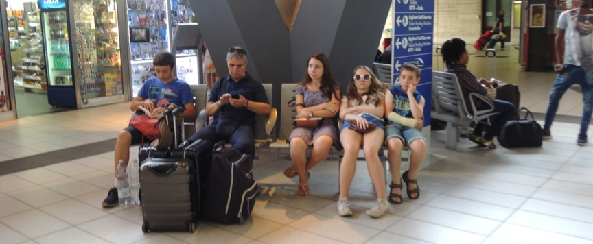 Books, boredom and Smartphone envy in Sorrento Station