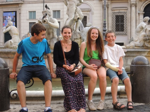 Happy to be at the Piazza Navona, Rome